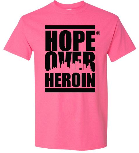 Neon Pink T-Shirt - Hope Over Heroin